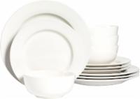 Dash of That Amalfi 12-Piece Dinnerware Set - Ivory