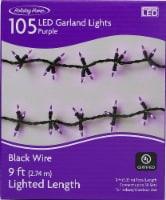 Holiday Home® Garland Lights - Purple - 9 ft
