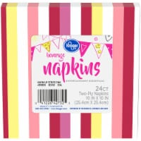 Kroger® Entertainment Essentials Warm Up Stripe Beverage Napkins - Pink