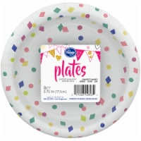 Kroger® Entertainment Essentials Geo Confetti Paper Plates - White