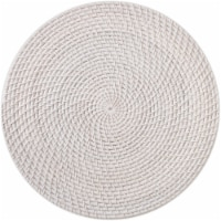 Dip Avery Wicker Table Placemat - White