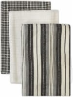 Dip™ Sophie Patterened Kitchen Towels - White/Gray