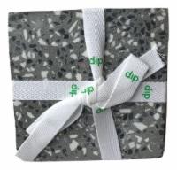 Dip Terrazo Coaster Set - Gray/White