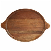 Dip™ Oval Serving Tray with Handles - Brown