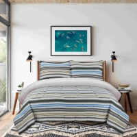 Everyday Living Jersey Knit Comforter Set - Power Stripe