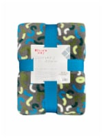 Everyday Living® Squiggle Microplush Blanket - Gray