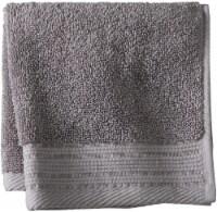 Modavari Home Fashions Pima Pinstripe Washcloth - Gray Flannel - Wash Cloth