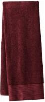 Modavari Home Fashions Pima Pinstripe Bath Towel - Fig - Bath Towel