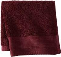 Modavari Home Fashions Pima Pinstripe Washcloth - Fig - Wash Cloth
