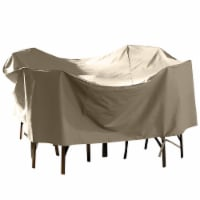 HD Designs Outdoors Round Patio Set Cover - Taupe