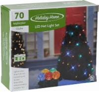Holiday Home® 70 LED Net Lights - Multi-Colored