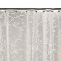 Everyday Living® Langley Floral PEVA Shower Curtain - White