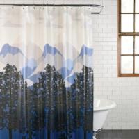 Everyday Living Misty Mountains PEVA Shower Curtain - Blue/White