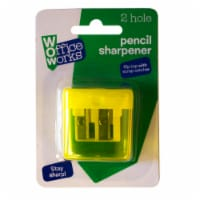 Office Works Flip Top Pencil Sharpener - Assorted