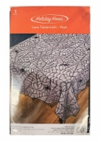 Holiday Home Web Lace Tablecloth - Black