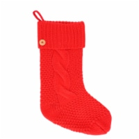 Holiday Home® Cable Knit Stocking - Red