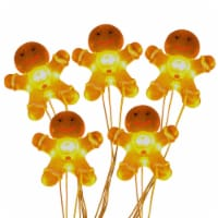 Holiday Home® LED Gingerbread Man Party Lights - Yellow