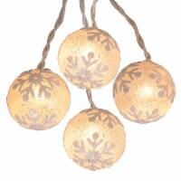 Holiday Home® LED Snowflake Ball Lights 10 Count