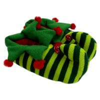 Holidat Home® Stripe Elf Slippers - Green/Red