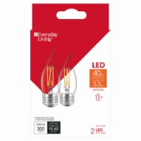 Everyday Living® 3.3-Watt (40-Watt) BA11 LED Light Bulbs