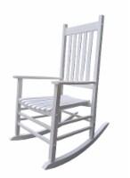 HD Designs Outdoors Wood Rocker - White
