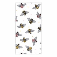Everyday Living Bees Print Kitchen Towel - White/ Yellow