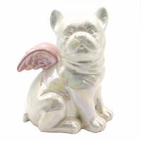Holiday Home® Winged Bulldog Figurine - Black/Gold