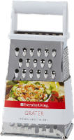 Everyday Living® Stainless Steel Grater - White