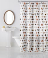 Everyday Living Bark Bark Shower Curtain