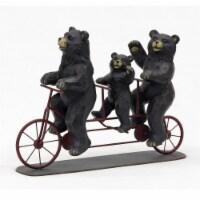 The Joy of Gardening® Bear Family on Bike Statue - Black