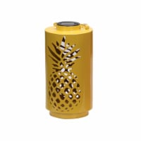 HD Designs Outdoors Metal Pineapple Solar Accent Light - Yellow