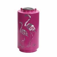 HD Designs Outdoors Flamingo Metal Solar Lantern - Pink
