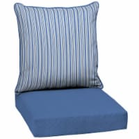 HD Designs Outdoors Deep Seat Cushion Set - Blue Stripe