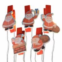 Holiday Home® LED Santa Clip Lights - Red