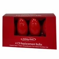 Holiday Home C9 Replacement Bulbs - Red - 4 pk