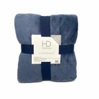 HD Designs® Etched Velvet Blanket - Blue