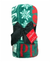 Holiday Home® Let It Snow Throw - Evergreen