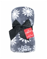 Holiday Home® Nordic Flurries Throw - Blackened Pearl
