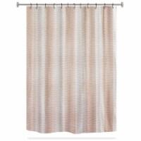 HD Designs Gleam Fabric Shower Curtain - Blush