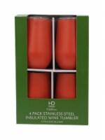 HD Designs Outdoors® Thermal Wine Tumblers - 4 Pack - Matte Nasturtium