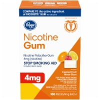 Kroger® Coated Fruit Wave Nicotine Gum 4mg