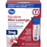 Kroger® Cherry Ice 2 mg Nicotine Mini Lozenges