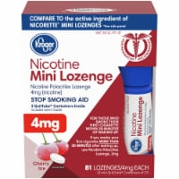 Kroger® Cherry Ice Nicotine Mini Lozenges 4mg 81 Count