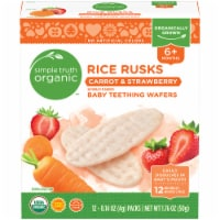 Simple Truth Organic™ Rice Rusks Carrot & Strawberry Baby Teething Wafers Packs 12 Count