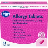 Kroger® Allergy Relief Antihistamine Tablets 25mg Box