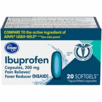 Kroger® Ibuprofen Pain Reliever & Fever Reducer Softgels 200mg