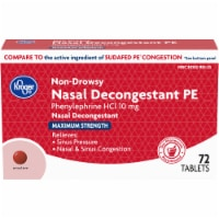 Kroger® Maximum Strength Non-Drowsy Nasal Decongestant PE Tablets 10mg