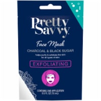 Pretty Savvy Exfoliating Charcoal & Black Sugar Face Mask