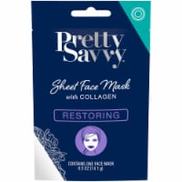 Pretty Savvy Restoring Sheet Face Mask with Collagen