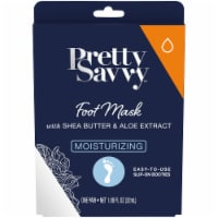 Pretty Savvy Moisturizing Foot Mask with Shea Butter & Aloe Extract